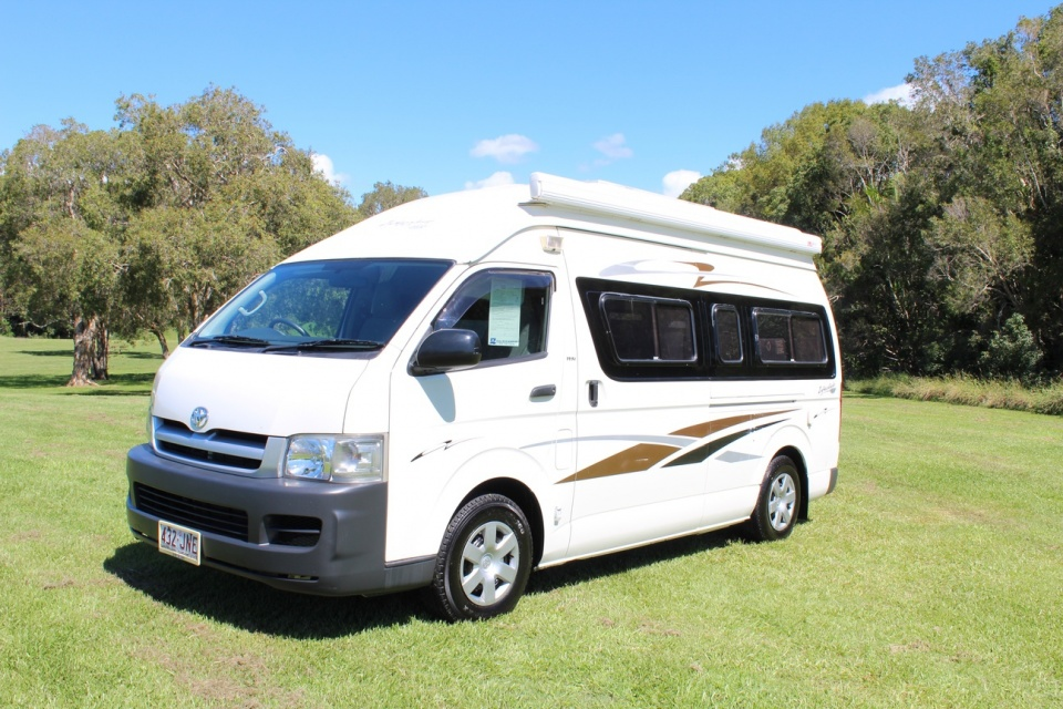 Toyota Hiace Slwb High Roof Automatic Campervan Low